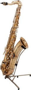 Musical Instruments:Horns & Wind Instruments, 1922 Buescher True Tone Brass Tenor Saxophone, Serial # 91656....