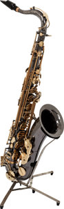 Musical Instruments:Horns & Wind Instruments, Circa 2010 Cannonball Big Bell Stone Two-Tone Tenor Saxophone, Serial # 117630....
