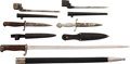 Edged Weapons:Bayonets, Lot of Five Military Knives and Bayonets.... (Total: 5 )