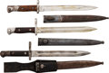 Edged Weapons:Bayonets, Lot of Three Mauser Type Bayonets.... (Total: 3 Items)
