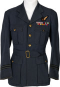 Militaria:Uniforms, WWII R.A.F. Officers' Service Jacket Identified to Flight Lieutenant William Henry Marshall Who Was Shot Down and Escaped and ... (Total: 2 )