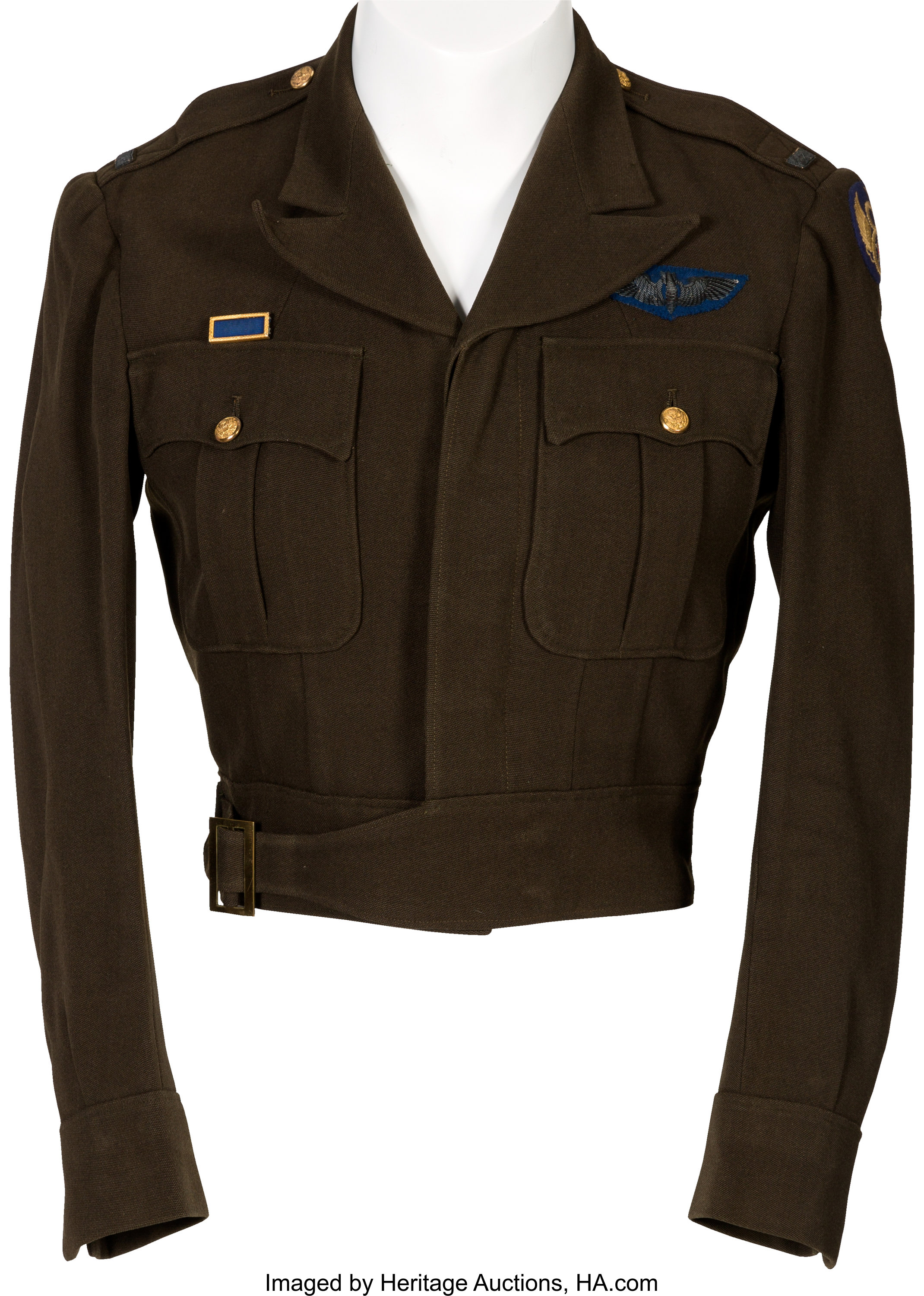 Fantastic English Made Ike Jacket Identified to Bombardier