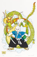 Original Comic Art:Miscellaneous, Stan Sakai Usagi Yojimbo: Dragons Hand-Colored SignedLimited Edition Print Original Art #1/60 (c. 1988)....