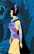Animation Art:Production Cel, He-Man and the Masters of the Universe Evil-Lyn ProductionCel Setup (Filmation, 1984).... (Total: 2 Original Art)