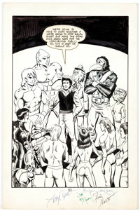Tony Caputo and Others Now Comics Preview #1 Page 13 Original Art (Now Comics, 1986)