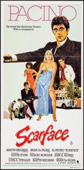 "Movie Posters:Crime, Scarface (Universal, 1983). Australian Daybill (13.25"" X 27"").Crime.. ..."