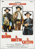 "Movie Posters:Western, The Good, the Bad and the Ugly (Titanus, R-1972). Italian 4 - Fogli(55.25"" X 77.25""). Western.. ..."