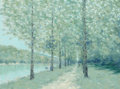 Fine Art - Painting, European:Contemporary   (1950 to present)  , André Gisson (French/American, 1921-2003). Summer Canal. Oilon canvas. 30 x 40 inches (76.2 x 101.6 cm). Signed lower r...