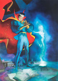 Original Comic Art:Miscellaneous, Kevin Nowlan Doctor Strange Conjuring Clea Limited EditionLithograph Print #205/2500 (1987)....