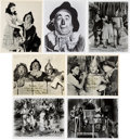 "Movie/TV Memorabilia:Autographs and Signed Items, A Ray Bolger Collection of Signed Black and White Stills from ""TheWizard of Oz.""..."
