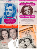 Movie/TV Memorabilia:Documents, A Judy Garland-Related Large Collection of Vintage Sheet Music, 1930s-1940s....