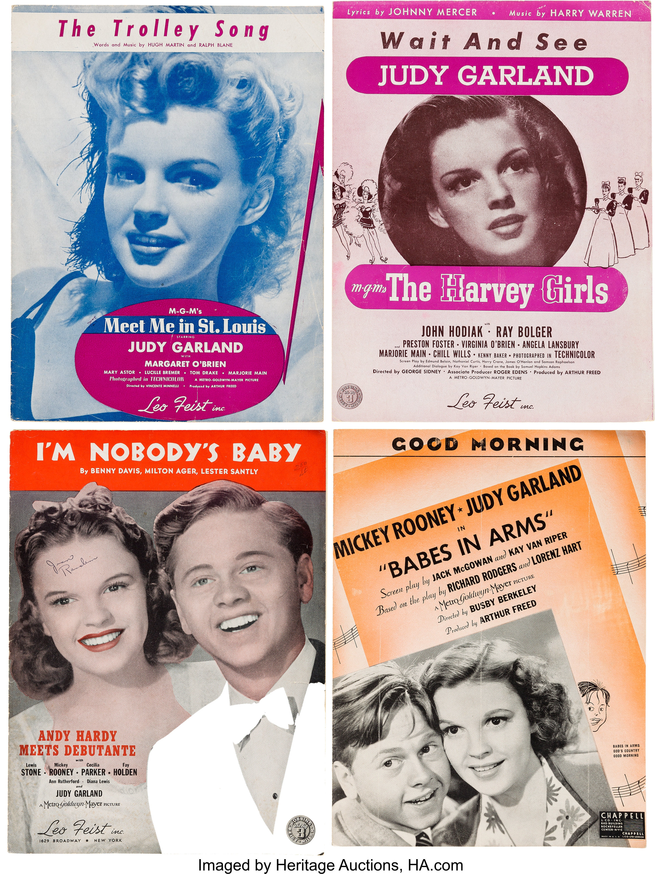 A Judy Garland-Related Large Collection of Vintage Sheet ...