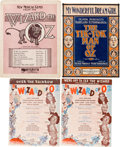 "Movie/TV Memorabilia:Documents, A Collection of Sheet Music Related to ""The Wizard of Oz,""1900s-1970s...."