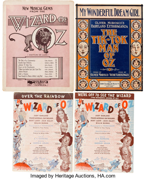 A Collection of Sheet Music Related to