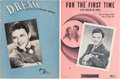 Movie/TV Memorabilia:Documents, A Frank Sinatra-Related Set of Sheet Music, 1940s....