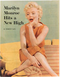 Movie/TV Memorabilia:Autographs and Signed Items, A Marilyn Monroe Signed Oversized Color Magazine Page, 1954....