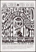 "Movie Posters:Rock and Roll, The Grateful Dead at The Avalon Ballroom (Family Dog, 1966). Concert Poster No. 12-2 (14"" X 20"") 2nd Printing. Rock and Roll..."