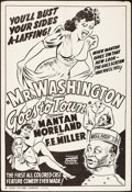 "Movie Posters:Black Films, Mr. Washington Goes to Town (Toddy, R-1940s). One Sheet (28"" X41""). Black Films.. ..."