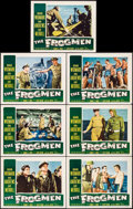 "Movie Posters:War, The Frogmen (20th Century Fox, 1951). Lobby Cards (7) (11"" X 14"").War.. ... (Total: 7 Items)"