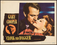 "Cloak and Dagger (Warner Brothers, 1946). Lobby Card (11"" X 14""). Thriller"