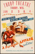"""Movie Posters:Comedy, A Foreign Affair (Paramount, 1948). Window Card (14"""" X 22"""") & Uncut Pressbook (24 Pages, 12.25"""" X 15""""). Comedy.. ... (Total: 2 Items)"""