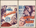 "Movie Posters:Film Noir, Cornered & Other Lot (RKO, 1946). Window Cards (2) (14"" X 22"").Film Noir.. ... (Total: 2 Items)"