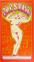 "Music Memorabilia:Posters, Jefferson Airplane ""The Sound"" Winterland Concert Poster BG-29Signed by Artist Wes Wilson (Bill Graham, 1966). ..."