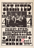 Music Memorabilia:Posters, Charlatans Sokol Hall Concert Poster MSC-SKL.1966.03.04 Signed by Artist Alton Kelley (1966)....