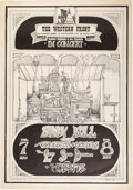 Music Memorabilia:Posters, Sandy Bull/Congress of Wonders Western Front Concert Poster (1967)....