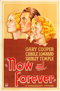 """Now and Forever (Paramount, 1934). One Sheet (27"""" X 41"""") Style A"""
