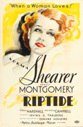 "Movie Posters:Drama, Riptide (MGM, 1934). One Sheet (27"" X 41"") Style C.. ..."