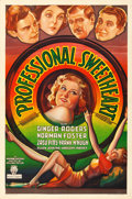 "Movie Posters:Comedy, Professional Sweetheart (RKO, 1933). One Sheet (27"" X 41"").. ..."