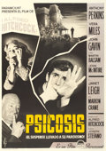 "Movie Posters:Hitchcock, Psycho (Paramount, 1960). Spanish One Sheet (27.5"" X 39.25"").. ..."