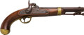 Handguns:Muzzle loading, H. Aston Model 1842 U.S. Percussion Pistol....
