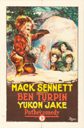 "Movie Posters:Comedy, Yukon Jake (Pathé, 1924). One Sheet (27"" X 41"").. ..."