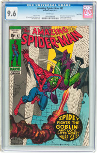 The Amazing Spider-Man #97 Twin Cities pedigree (Marvel, 1971) CGC NM+ 9.6 White pages