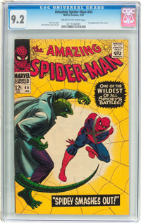 The Amazing Spider-Man #45 (Marvel, 1967) CGC NM- 9.2 Cream to off-white pages