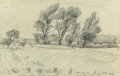 Fine Art - Work on Paper:Drawing, Oscar Florianus Bluemner (American, 1867-1938). Lawrence,1904. Pencil on paper. 4-5/8 x 7 inches (11.7 x 17.8 cm) (shee...