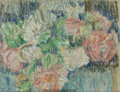 Fine Art - Work on Paper:Drawing, George F. Of (American, 1876-1954). Flowers on a Table,1908. Pastel on paper. 8-1/2 x 9-1/2 inches (21.6 x 24.1 cm). ...