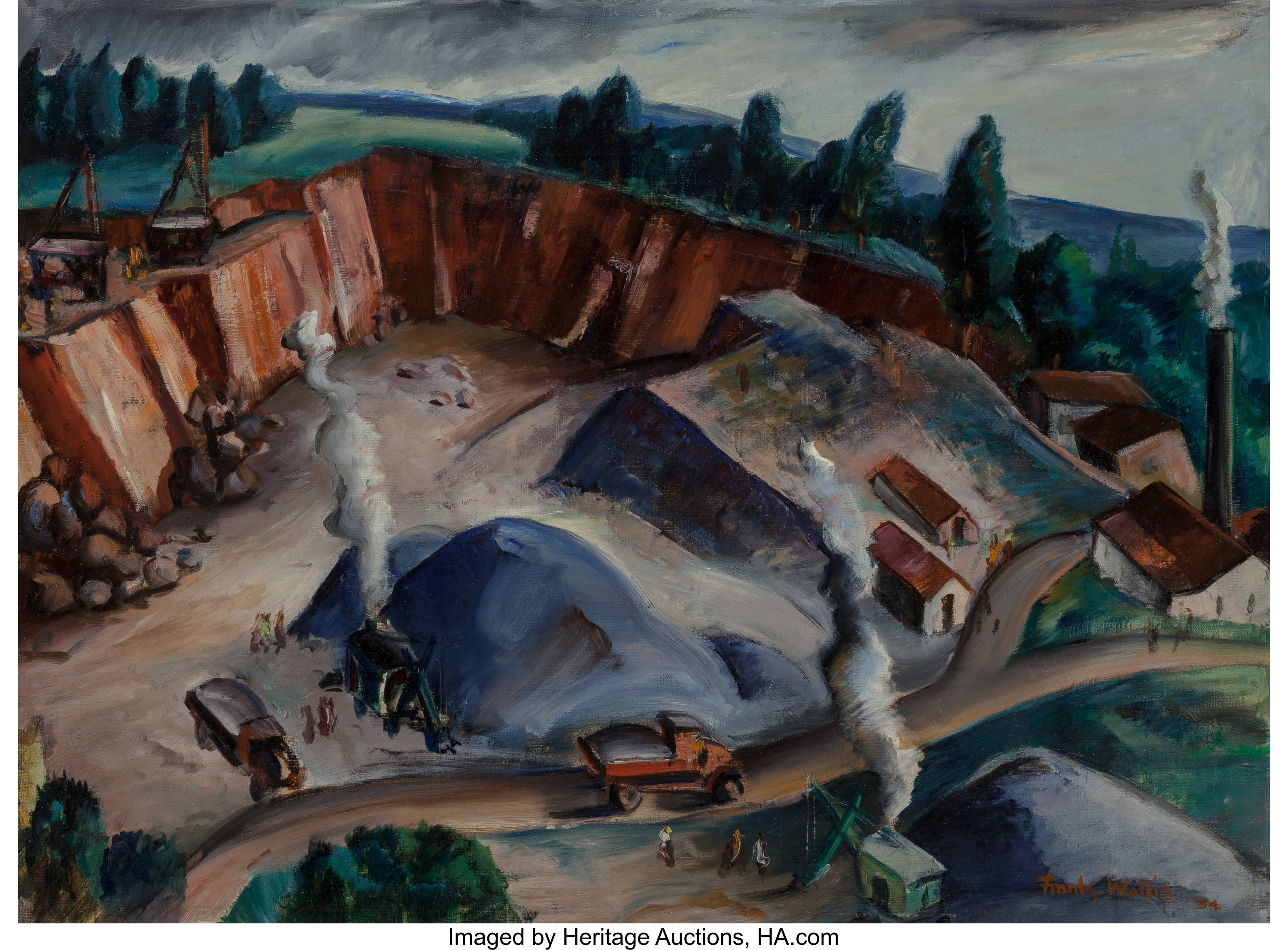 Frank Wallis American 20th Century Industrial Landscape 1934 Lot 62252 Heritage Auctions