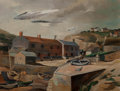 Fine Art - Painting, American:Modern  (1900 1949)  , Louis George Bouché (American, 1896-1969). Hope Cove,Devonshire, England, 1933. Oil on canvas. 22 x 28-1/2 inches(55.9...