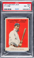 Baseball Cards:Singles (Pre-1930), 1914 Cracker Jack Ty Cobb #30 PSA NM-MT 8....