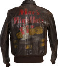 """Militaria:Uniforms, Fantastic Painted Type A-2 Flight Jacket, """"Mac's High Hats"""", Attributed to Waist Gunner Angelo Spina, 710th Bomb Squadron, 447... (Total: 5 )"""