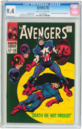 Silver Age (1956-1969):Superhero, The Avengers #56 (Marvel, 1968) CGC NM 9.4 Cream to off-white pages....
