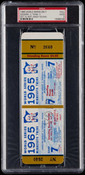 Baseball Collectibles:Tickets, 1965 World Series Game 7 PSA Good 2 Full Ticket - Dodgers vs.Twins. ...