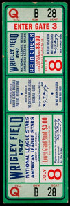Baseball Collectibles:Tickets, 1947 Baseball All-Star Game Full Ticket. ...