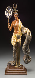 Sculpture, Erte Cold Painted Bronze Sculpture: Bamboo. Late 20th century. Stamped Erte, (various marks). Ht. 22-1/8 in.. ...