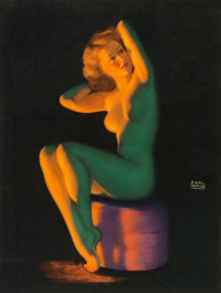 Earl Moran (American, 1893-1984) Group of Four Pinups Lithograph in colors, each 19.5 x 15 in. (s