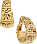 Estate Jewelry:Earrings, Gold Earrings, Bvlgari. ...