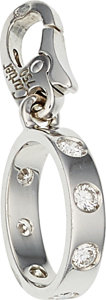 Estate Jewelry:Other, Diamond, White Gold Charm, Cartier, French. ...